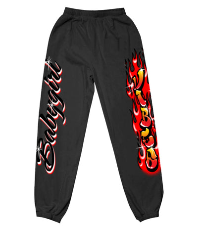 AIRBRUSH FLAME SWEATPANTS