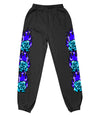 AIRBRUSH ROSE FLAMES SWEATPANTS