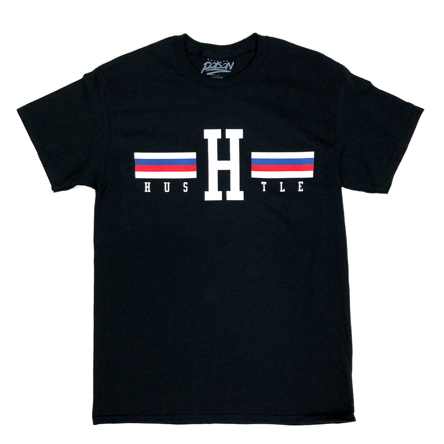 H For Hustle Stripes Tommy Short Sleeve Tee