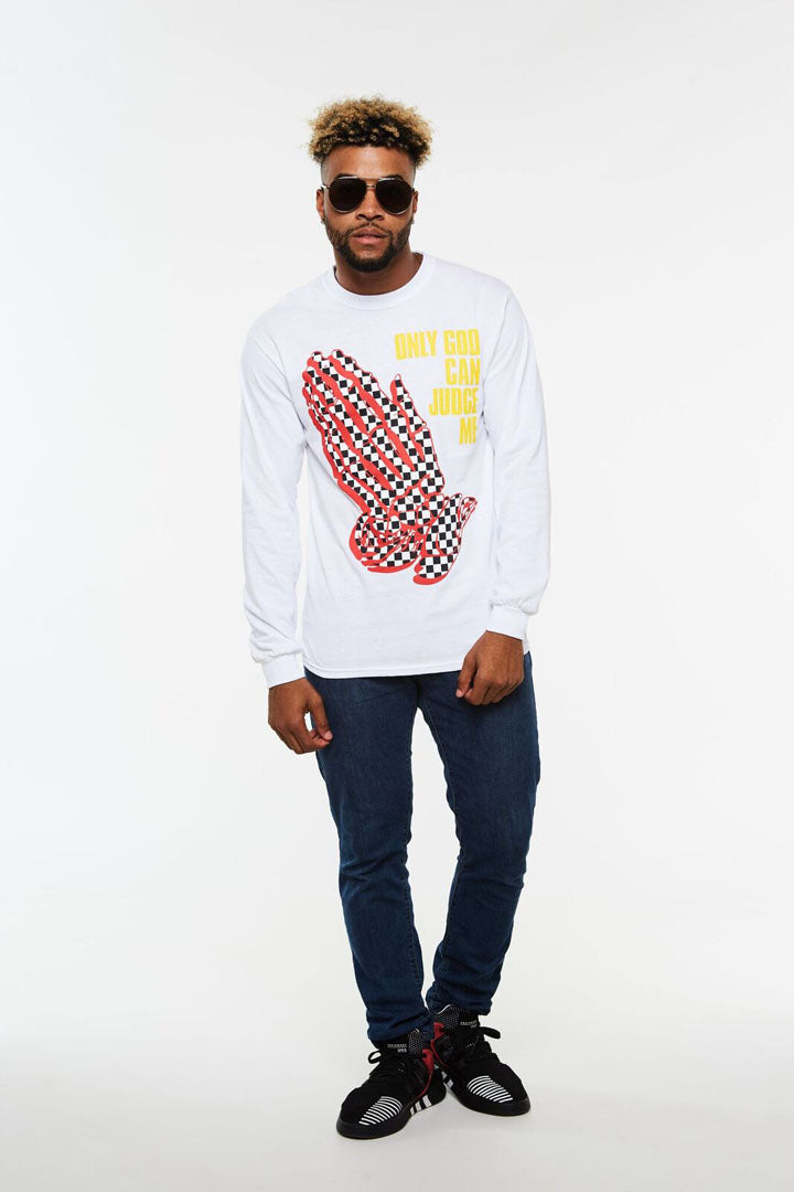 Checker Praying Hands Long Sleeve