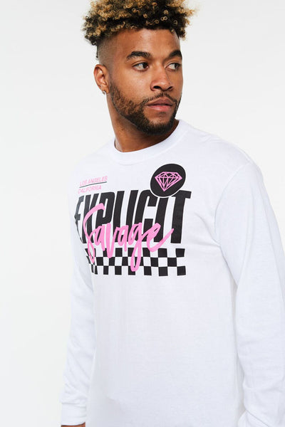 Explicit Savage Checker Long Sleeve