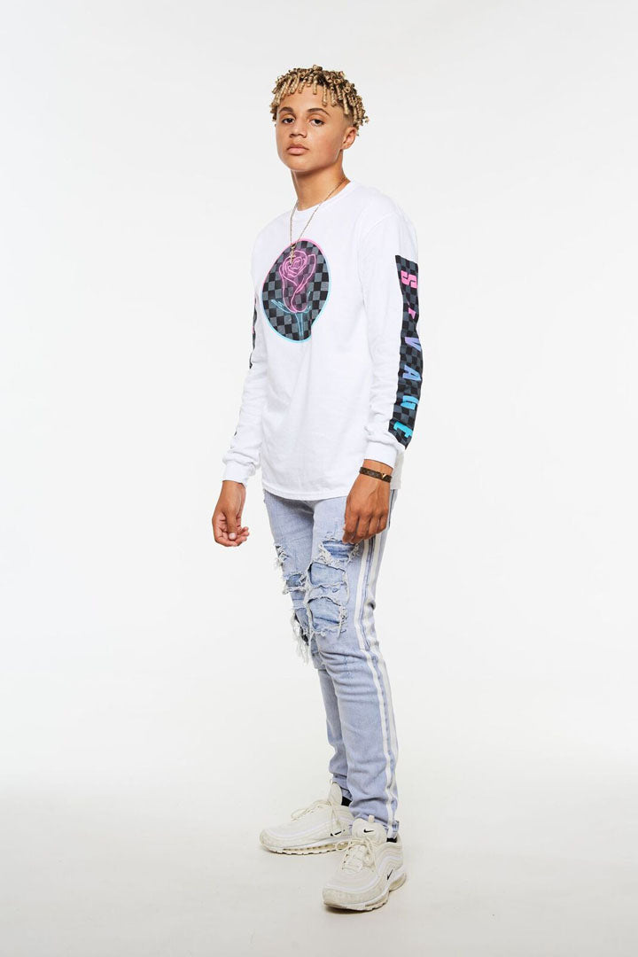 Checker Rose Long Sleeve