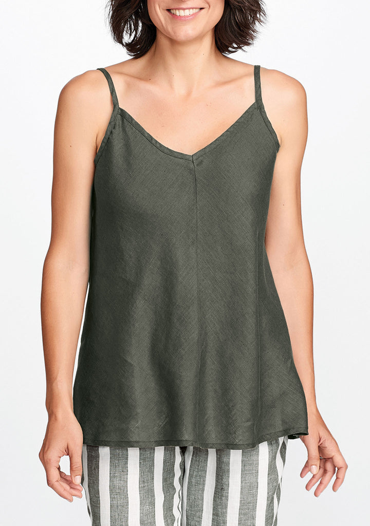 strappy cami green
