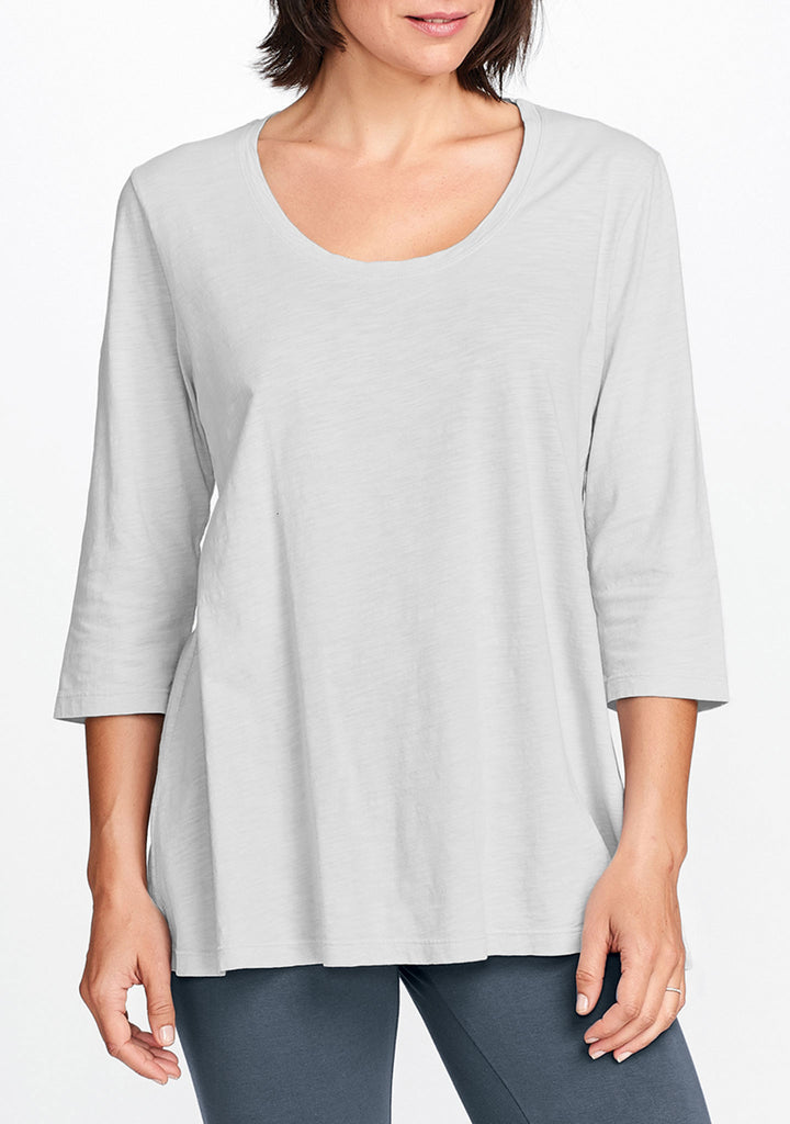 3/4 sleeve tunic grey