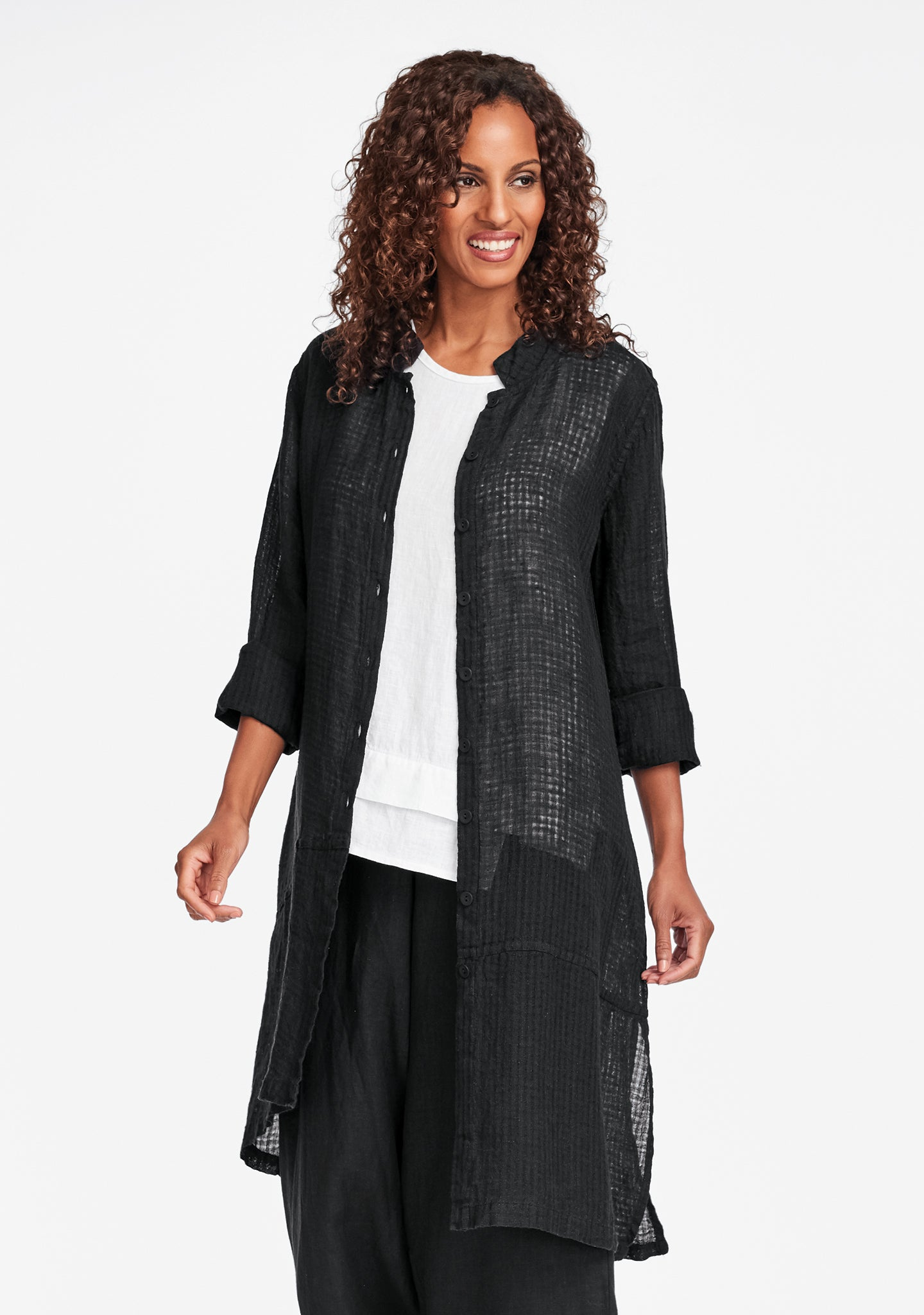 abstract duster black