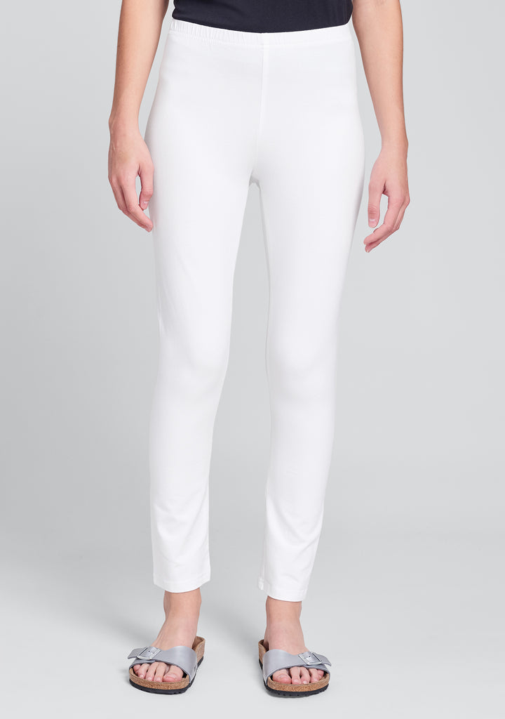 ankle length leggings cotton leggings white