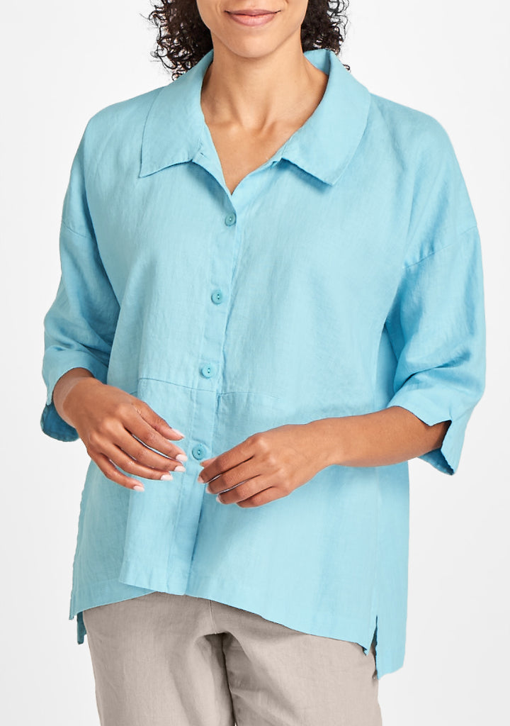 artful blouse blue