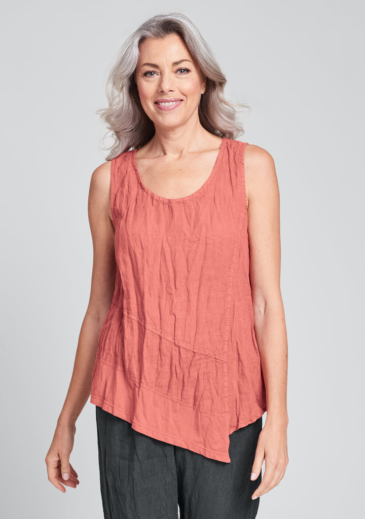 astoria tank linen tank top red