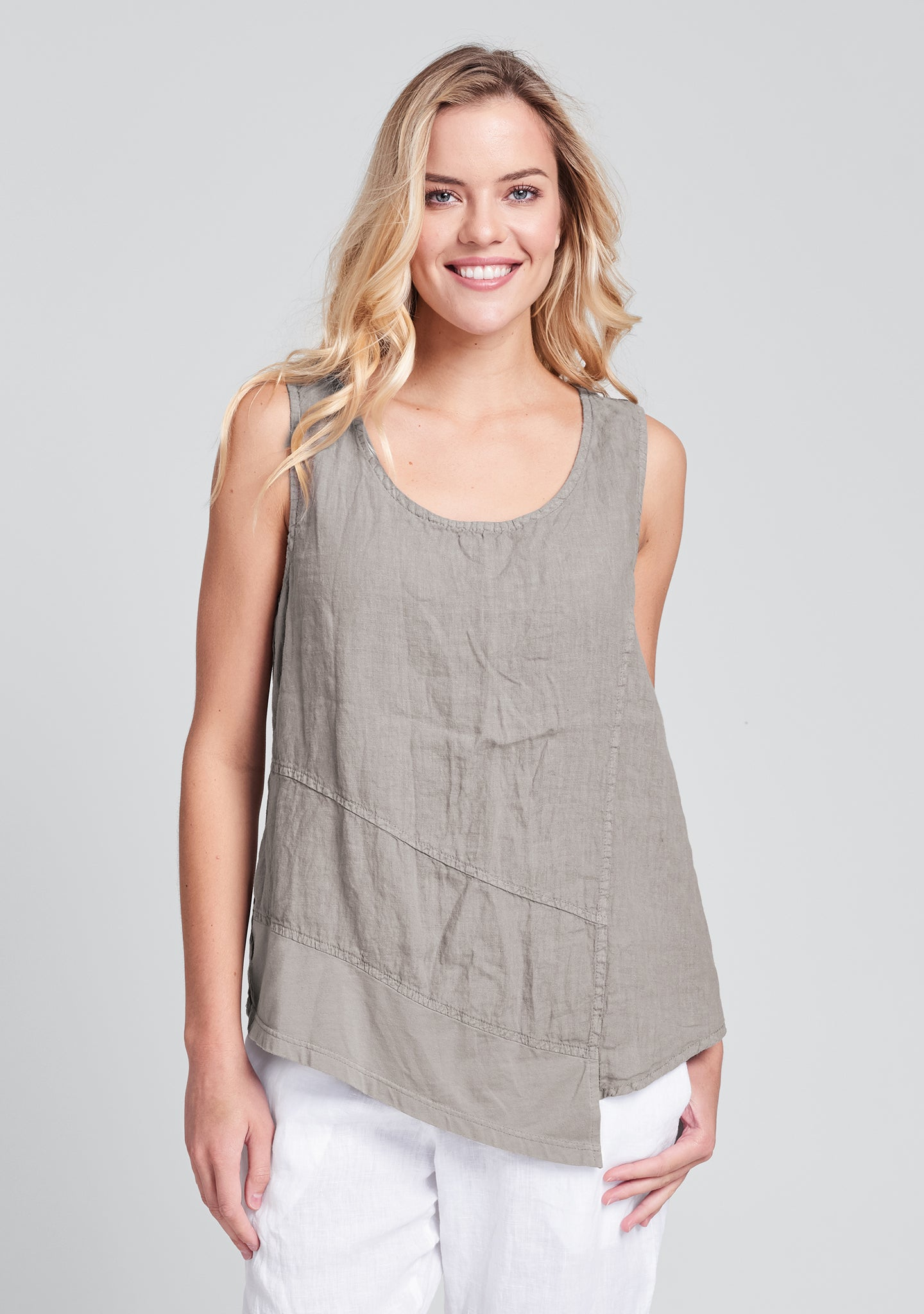 astoria tank linen tank top natural
