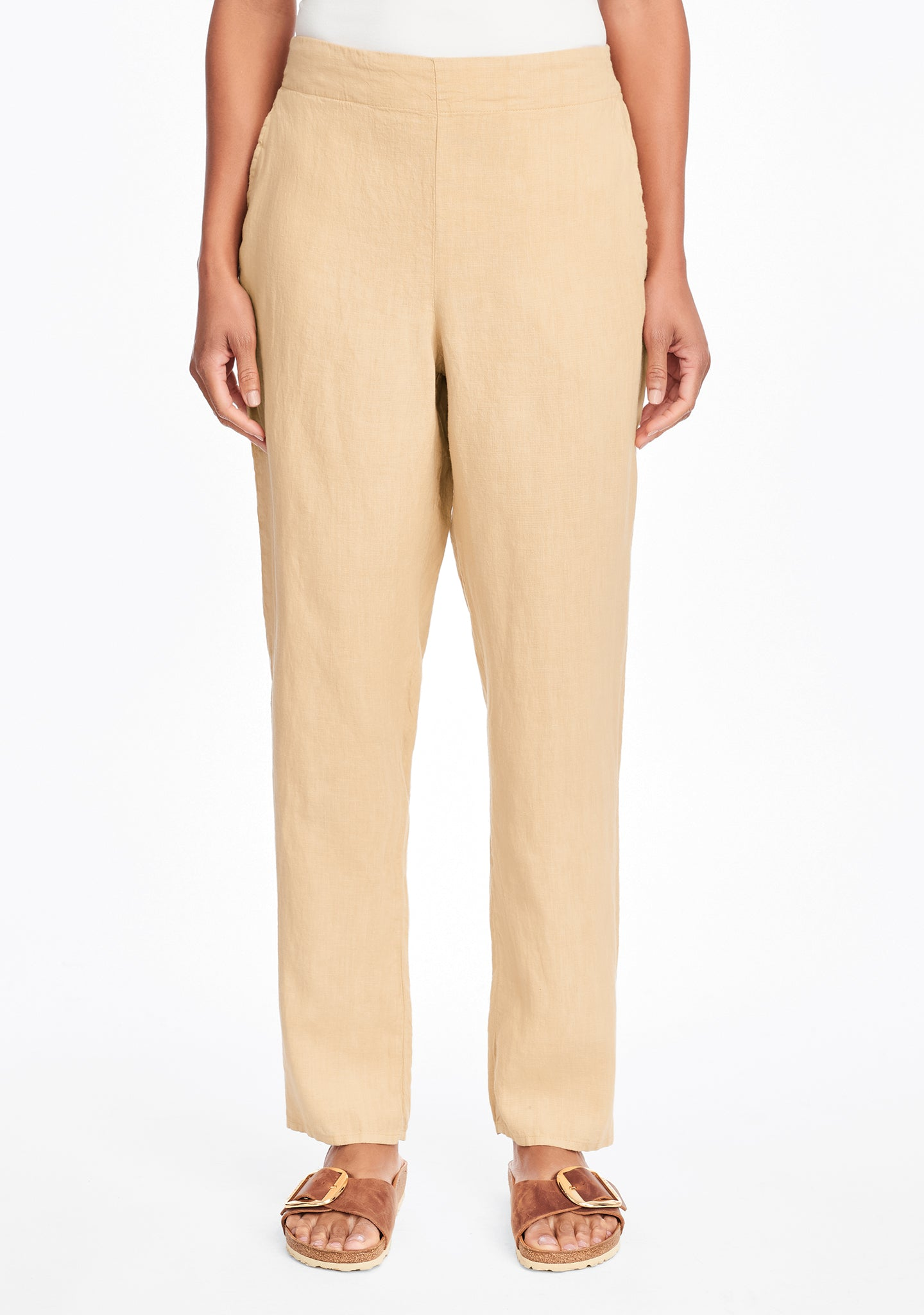 audrey pant linen pants yellow