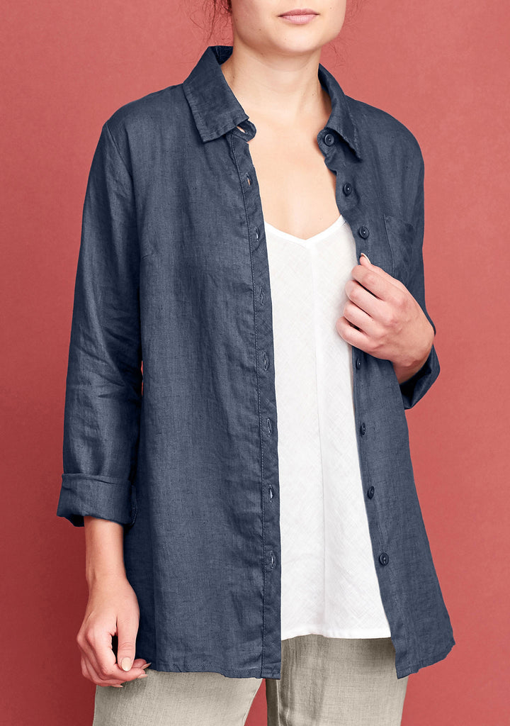 bias back shirt blue