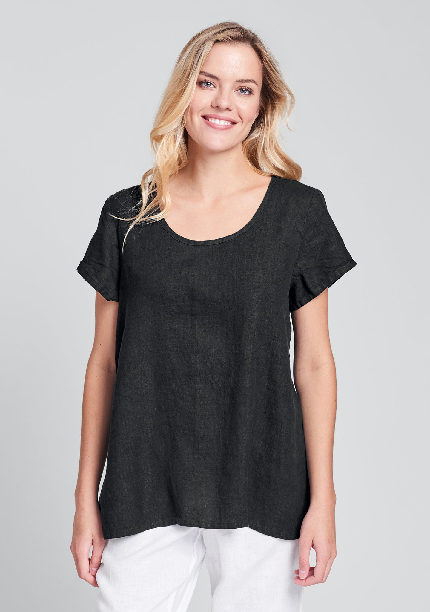 blossom blouse linen shirt black