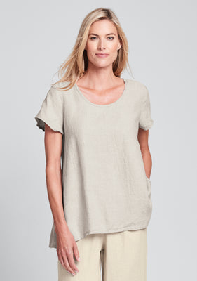 blossom blouse linen shirt natural