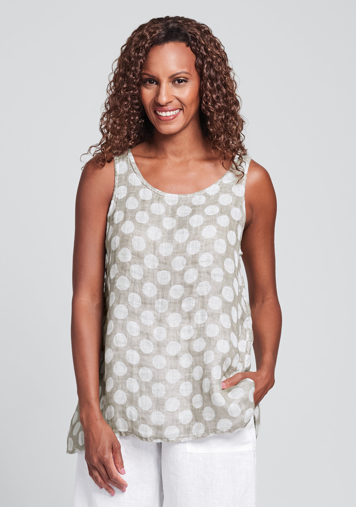 blossom tank linen tank top natural