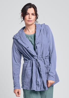 boardwalk jacket linen jacket blue