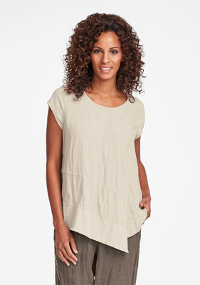 cap tee linen t shirt natural