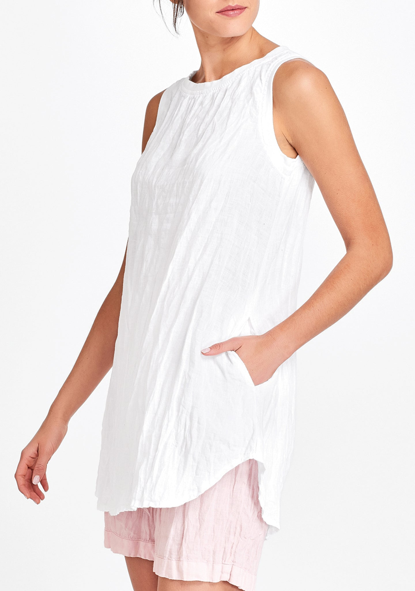 coastal tunic white