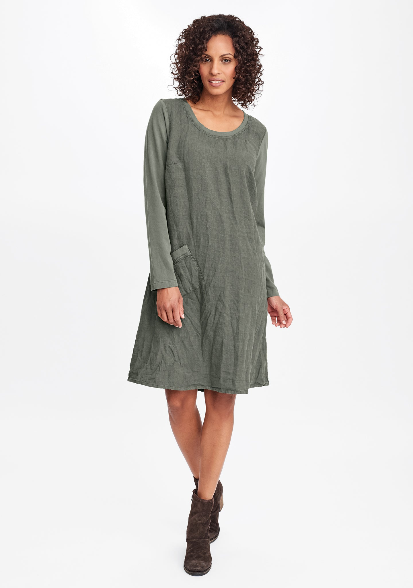 city dress green