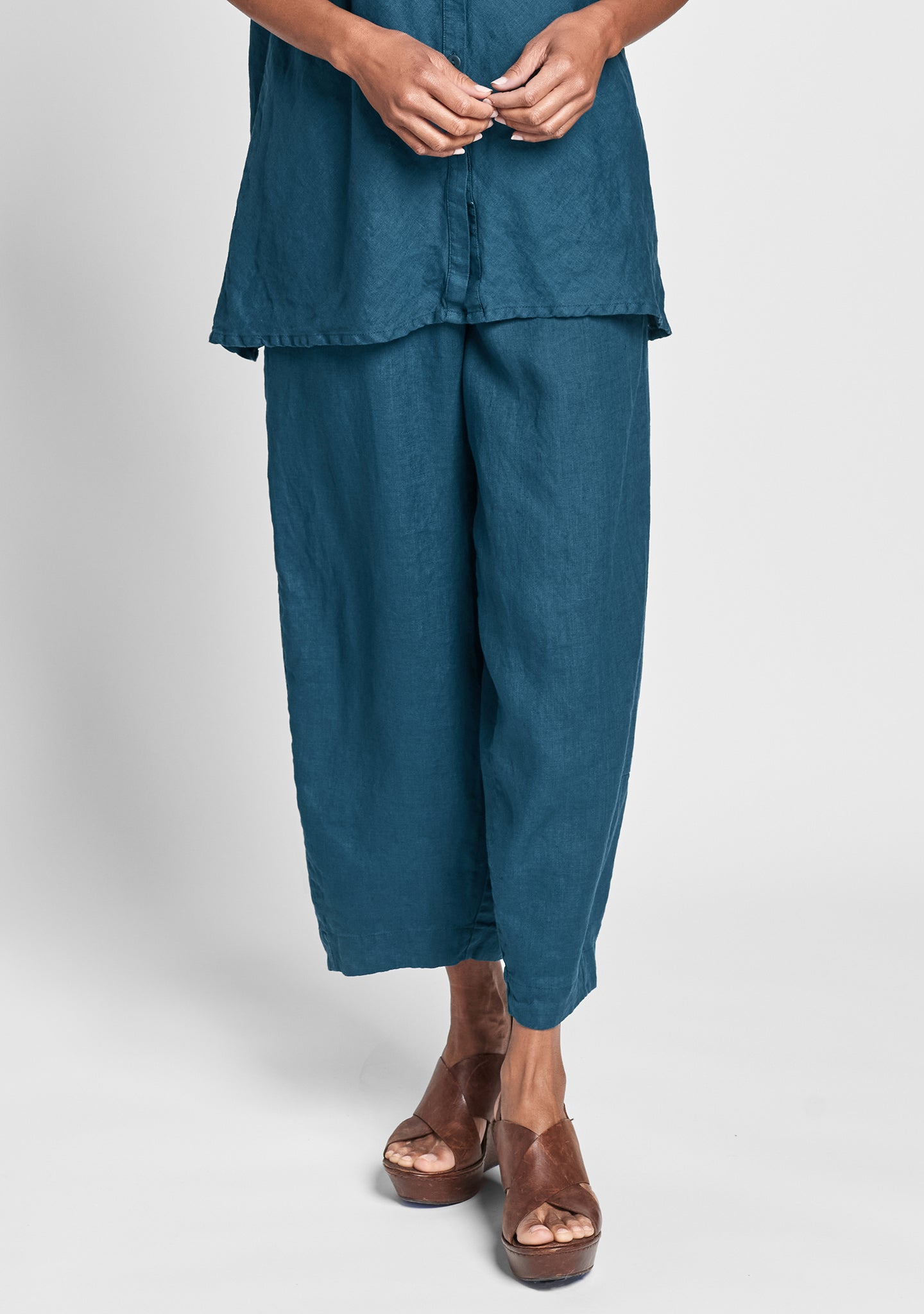 seamly pant linen pants green