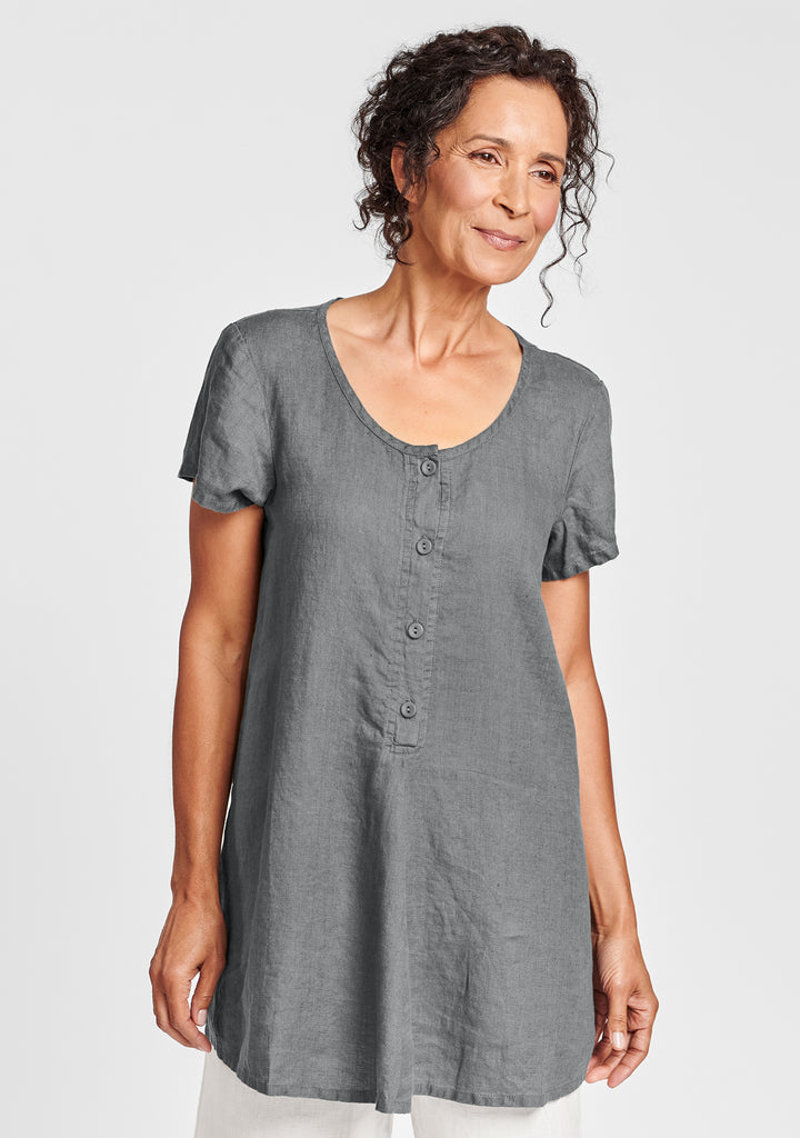 cool tunic linen shirt grey