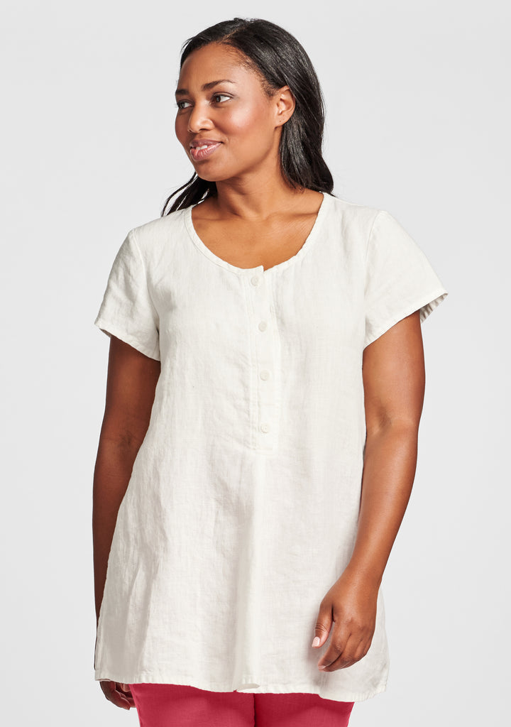 cool tunic linen shirt white