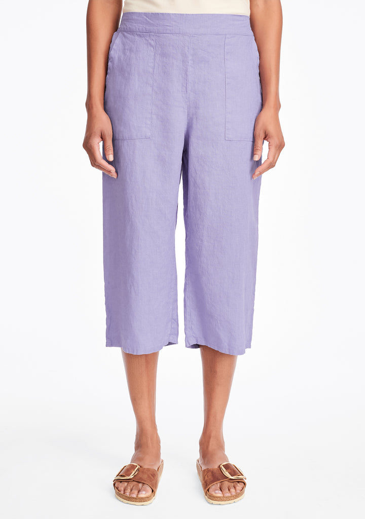 crop pant linen crop pants purple
