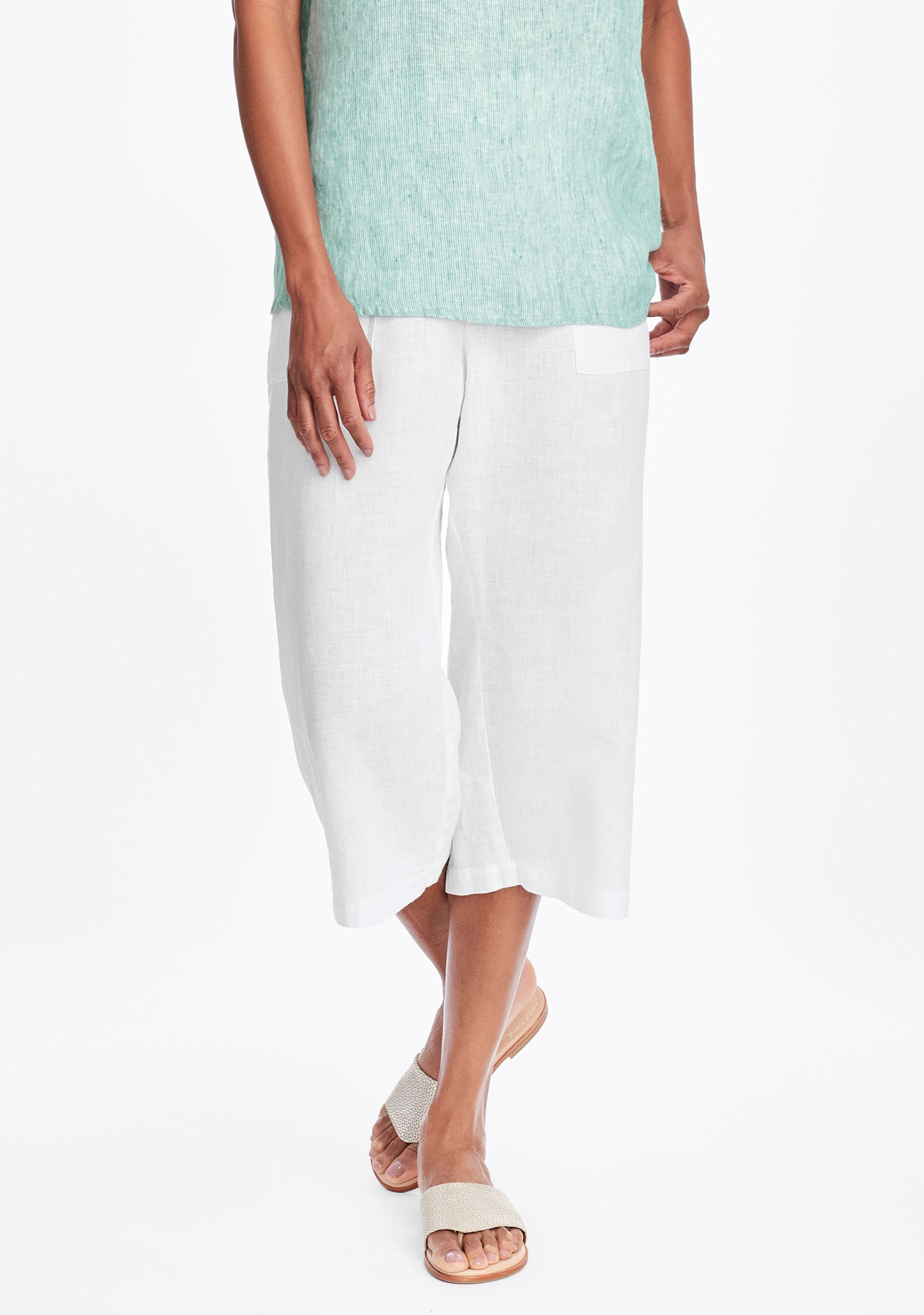 crop pant linen crop pants white