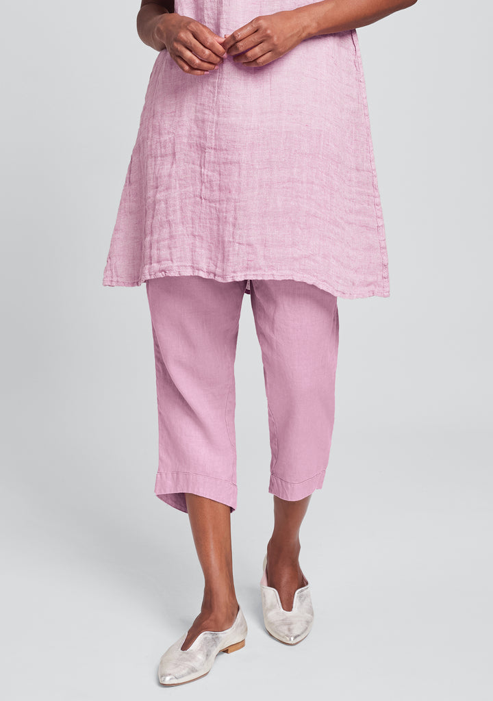 cropped pant linen crop pants pink