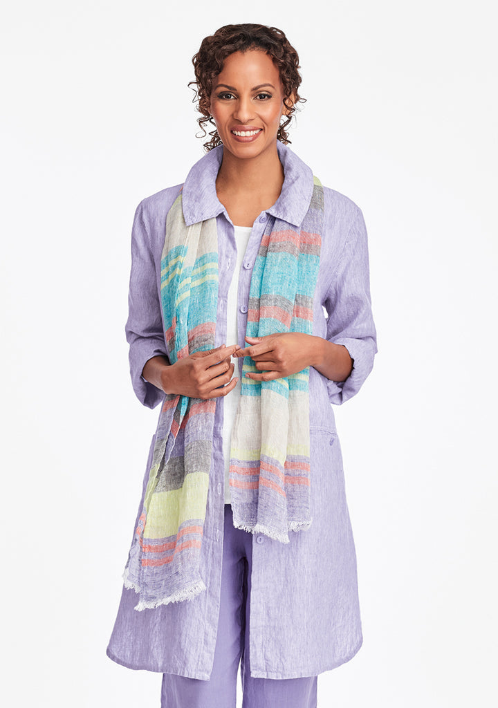 daily duster linen jacket purple