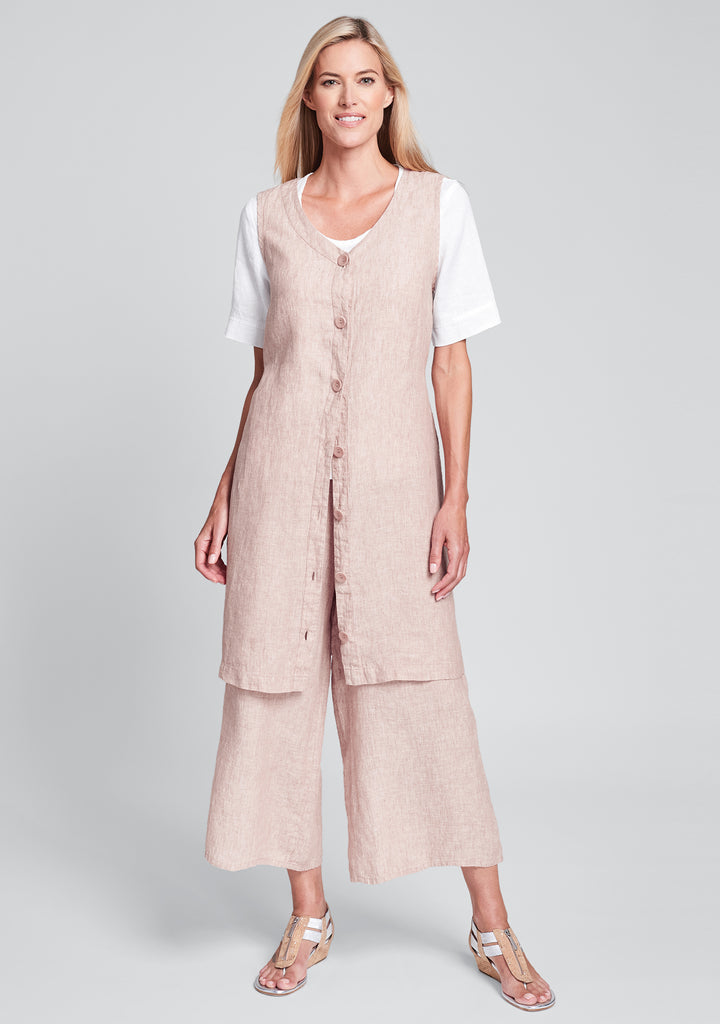 damsel dress linen button down dress pink