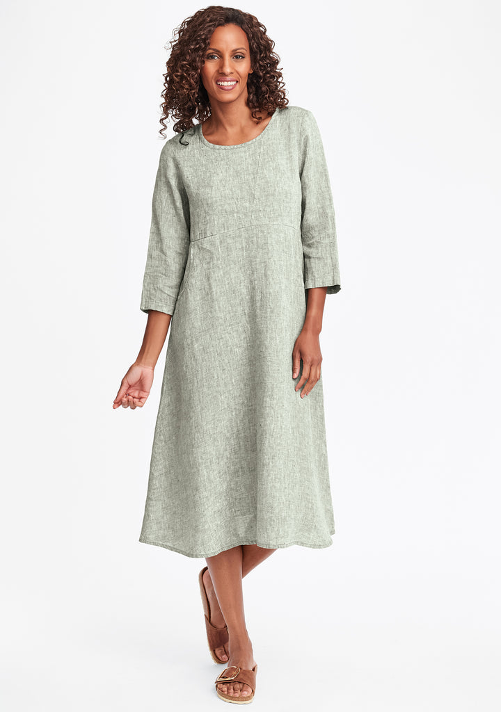 dashing dress linen midi dress green
