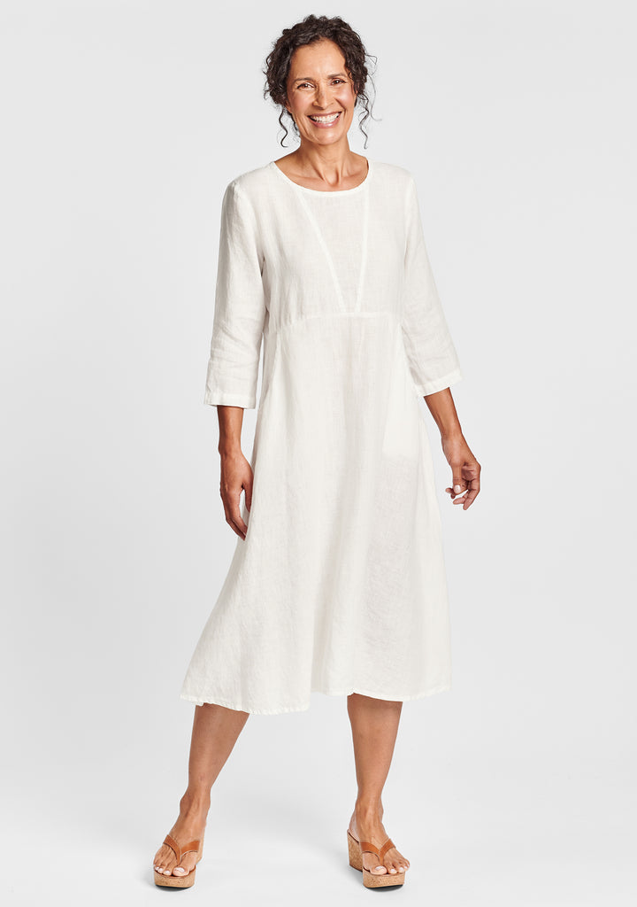 dashing dress linen midi dress white