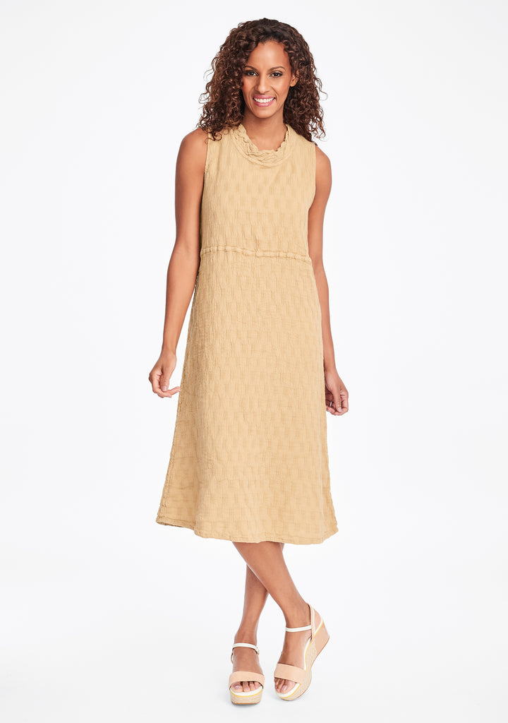 date night dress linen midi dress yellow