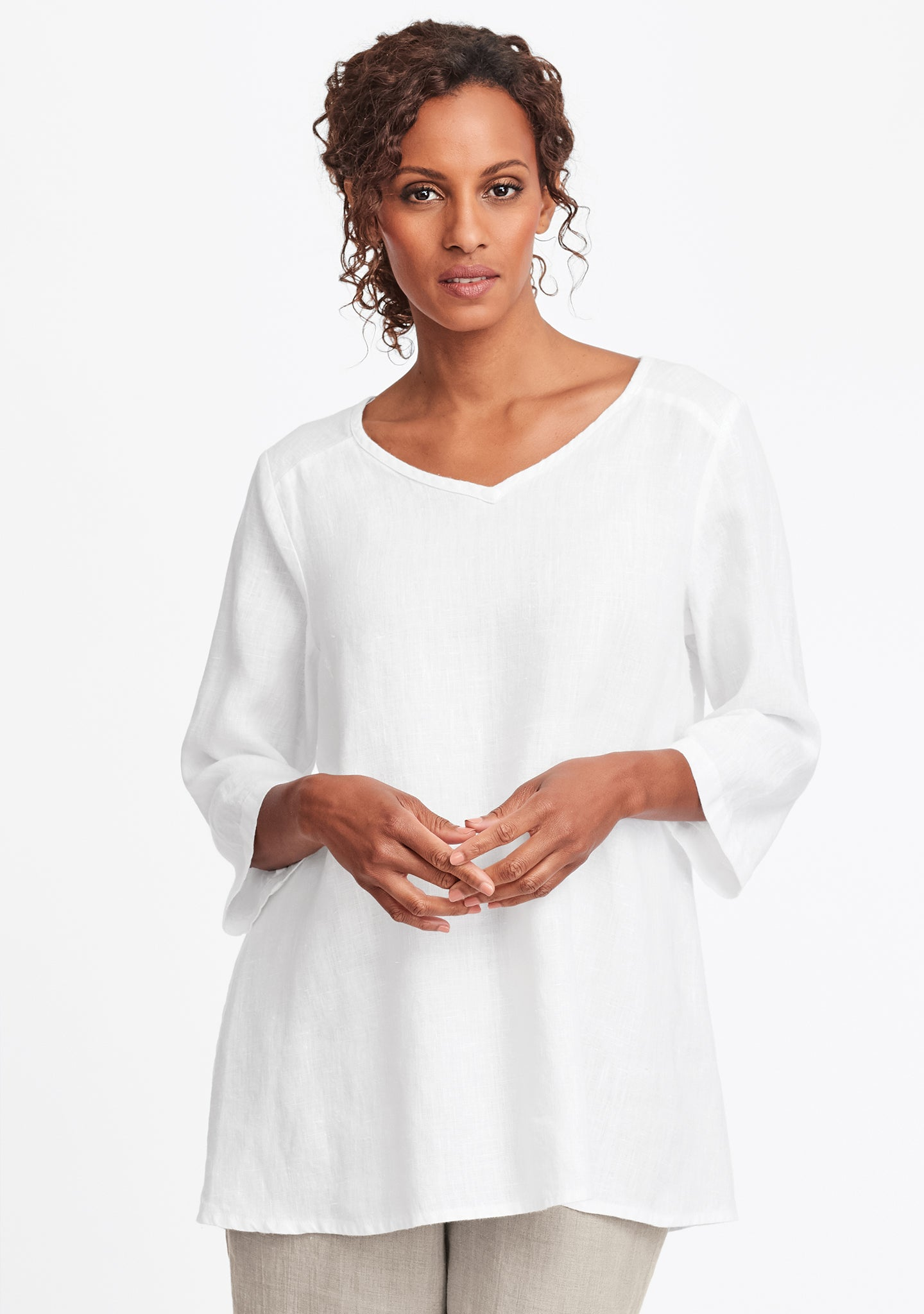dreamy top linen shirt white