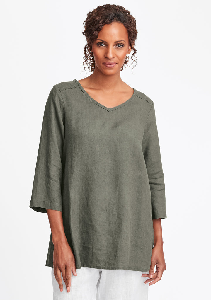 dreamy top linen shirt green