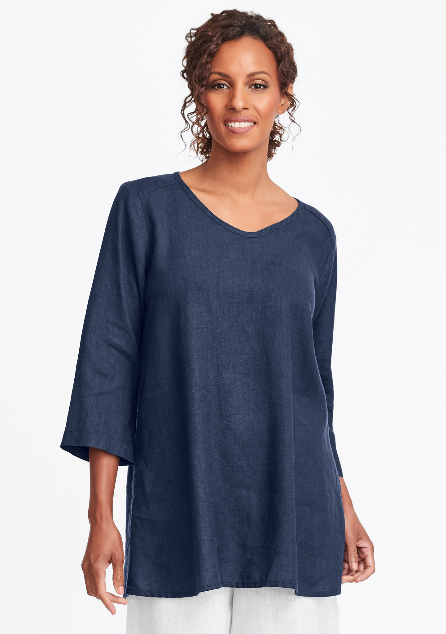 dreamy top linen shirt blue