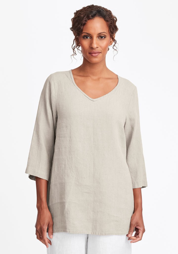 dreamy top linen shirt natural