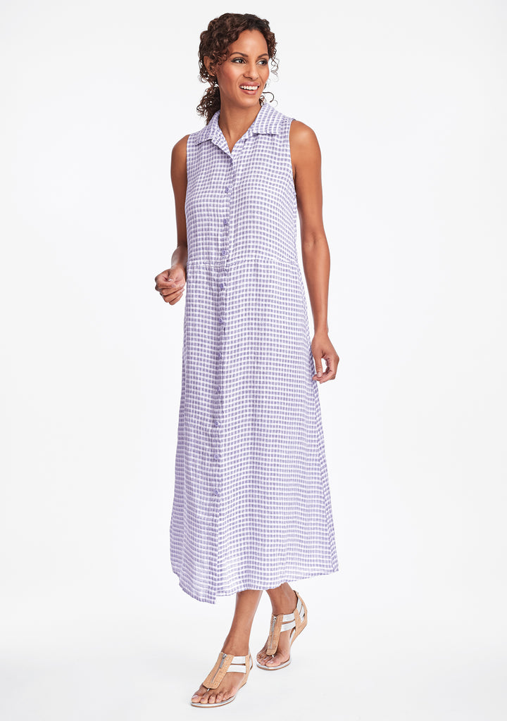 dresser linen maxi dress purple