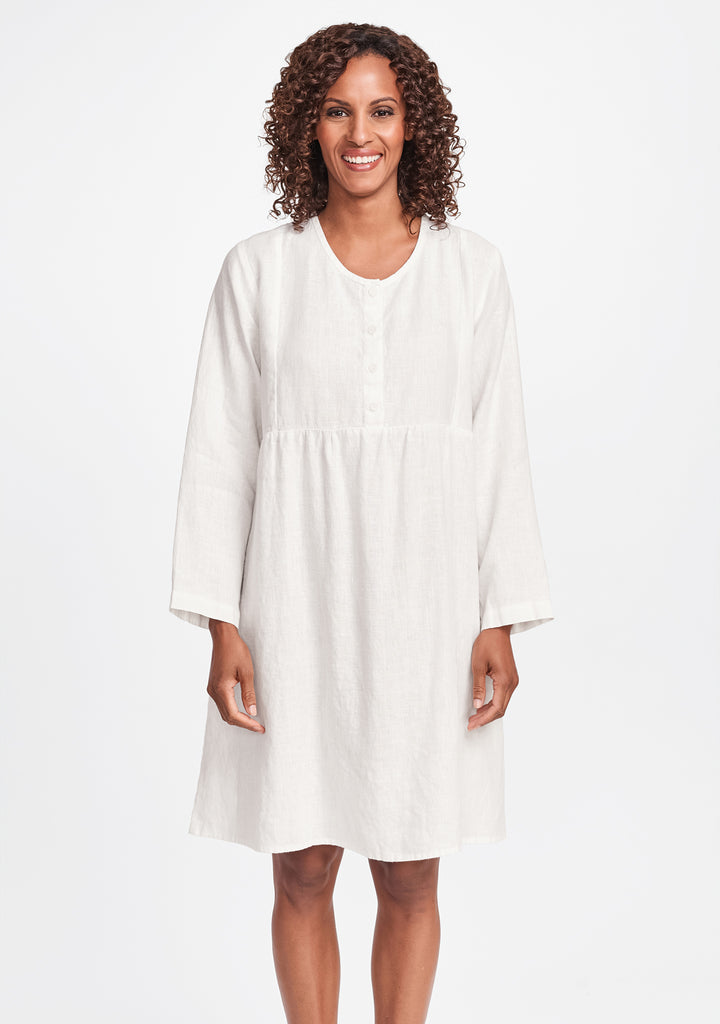easy dress linen dress white