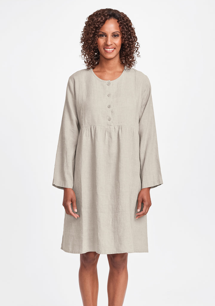easy dress linen dress natural