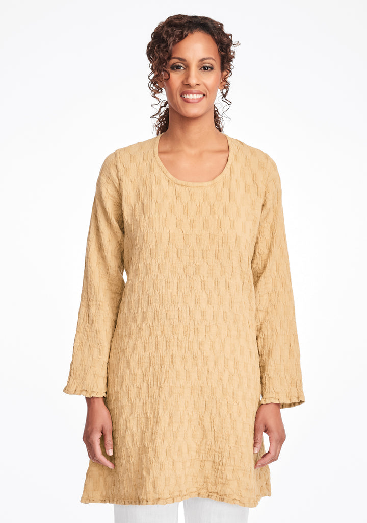 effortless tunic linen shirt yellow