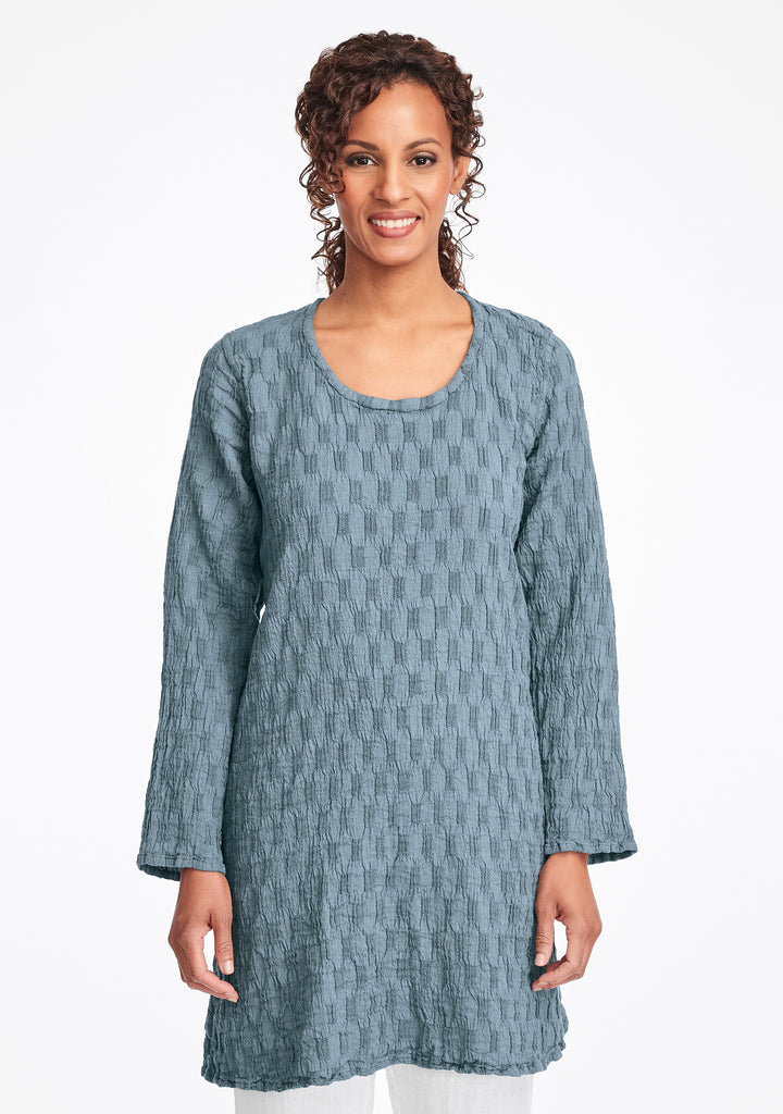 effortless tunic linen shirt green