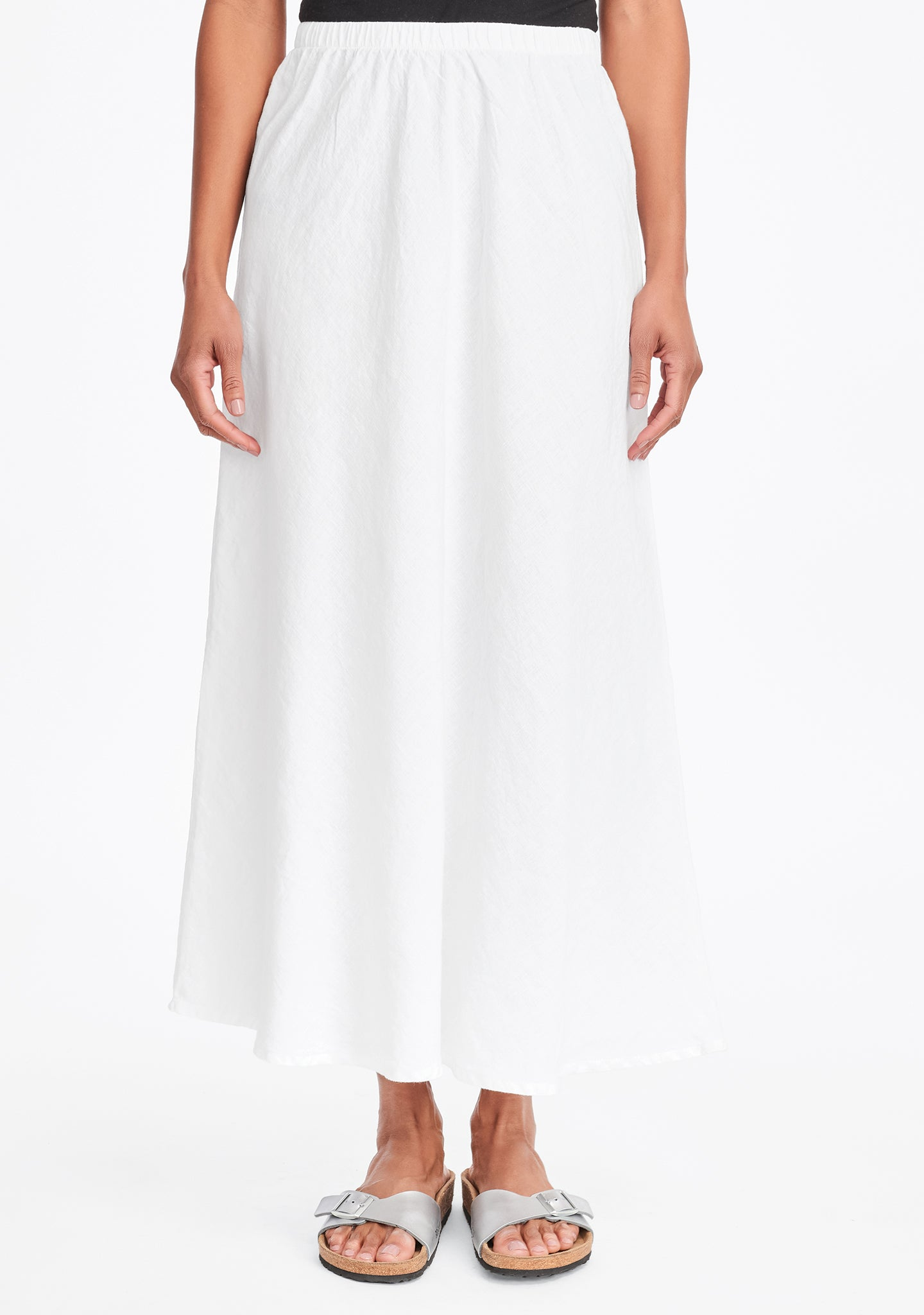 evening skirt linen maxi skirt white