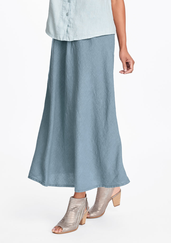 evening skirt linen maxi skirt green