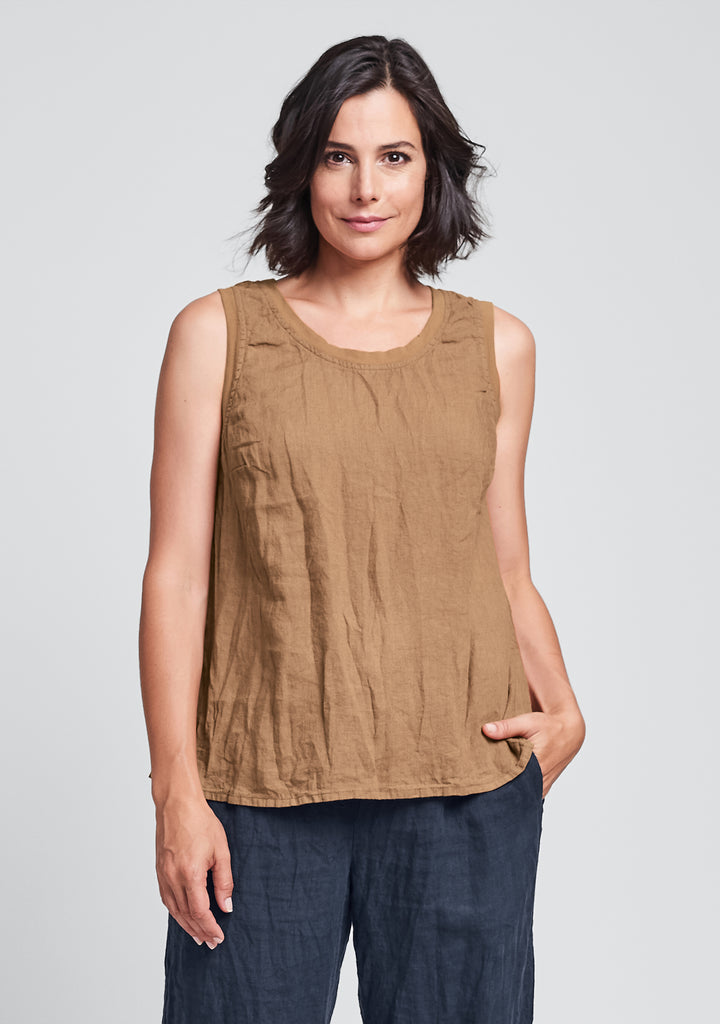 everyday tank linen tank top orange