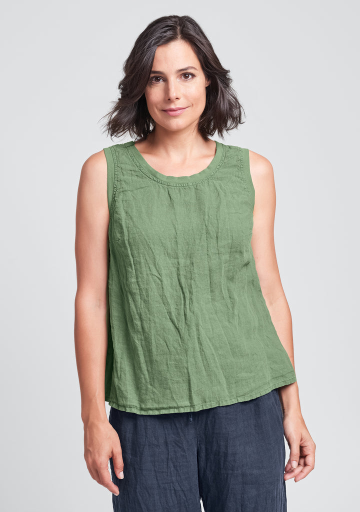 everyday tank linen tank top green
