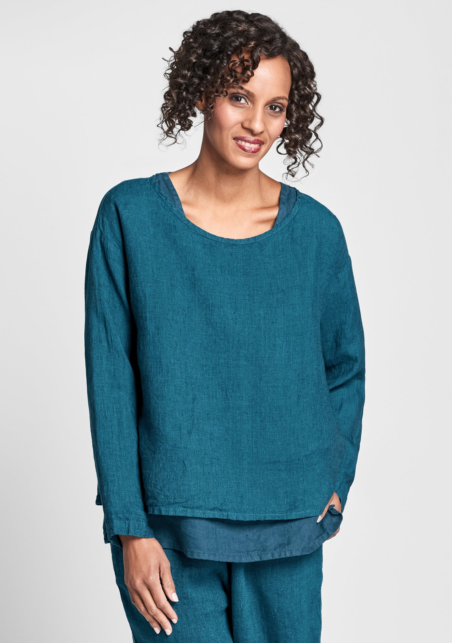 easy tee linen shirt green
