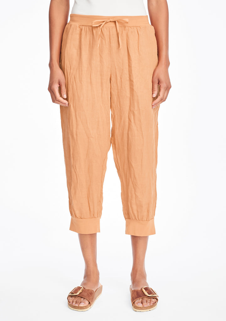 free spirit pant linen drawstring pants orange