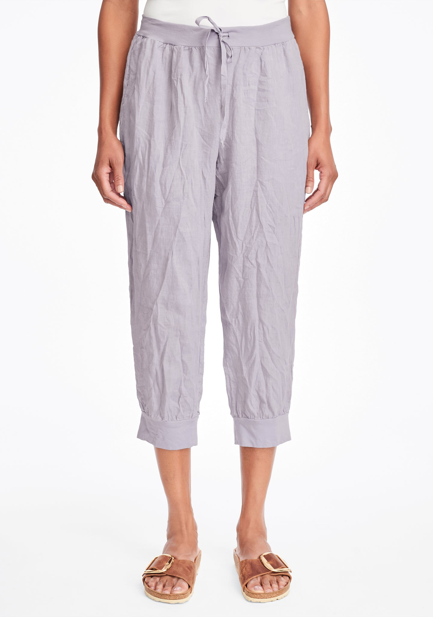 free spirit pant linen drawstring pants purple