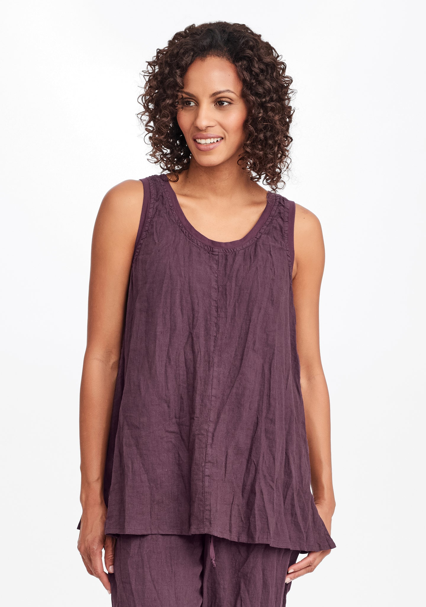 free tunic purple